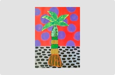 Palm Tree - Painting by Barry McCullough